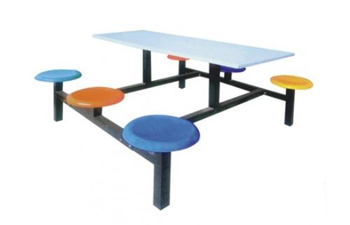 玻璃钢餐桌椅002