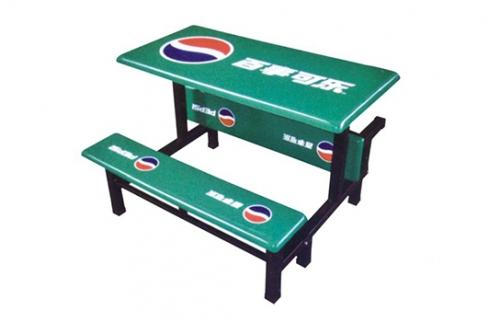 玻璃钢餐桌椅003
