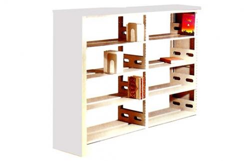 2四层双面双柱书架