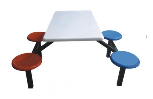 玻璃钢餐桌椅005