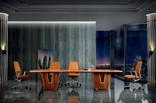 实木会议桌办公椅